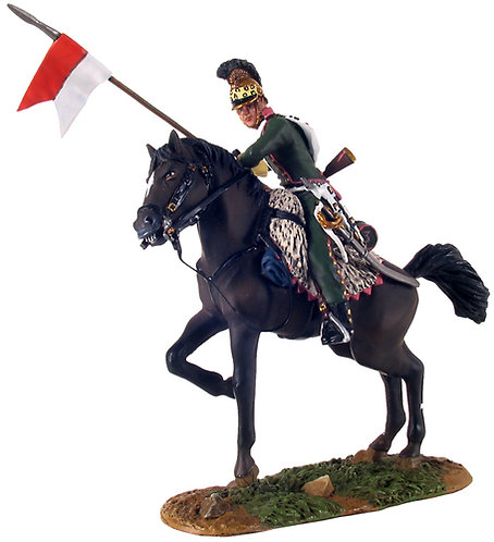 36069 - French 3rd Lancers Trooper on Rearing Horse No.1