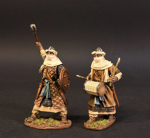 ALM-14B - Almoravid Officer and Drummer