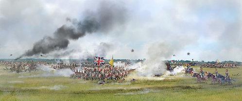 HA51065 - Unbroken Squares - Battle of Waterloo, 18 June 1815, Scenic Backdrop