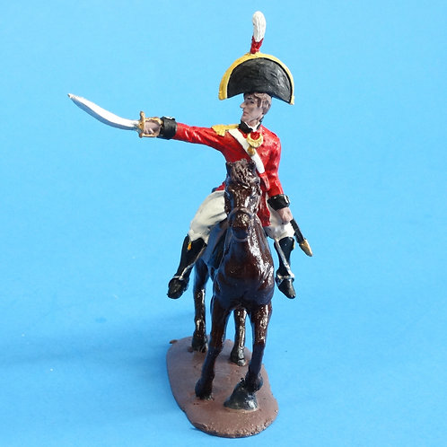 CORD-N1008 British Officer - Mounted - Napoleonics - Unknown Manufacturer - 54mm