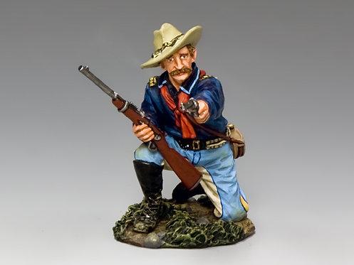 TRW096 - Kneeling Officer with Pistol & Carbine
