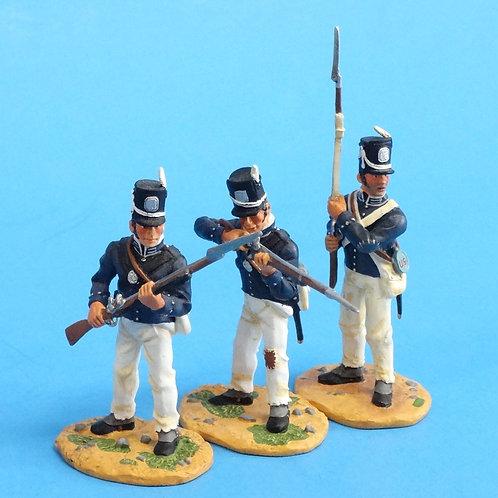 "CORD-A0175 - 7th US Regiment - ""The Cottonballers"" - 3 Figures - (Set 17478)"