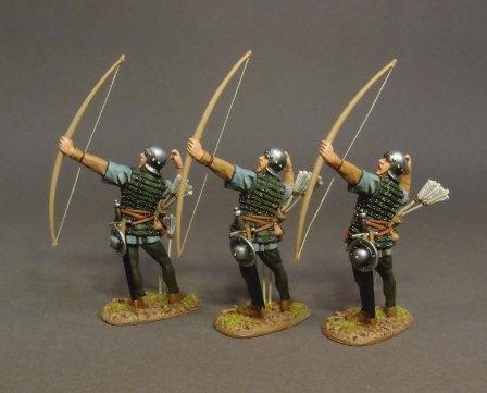 LANC-33N - Lancastrian Archers (3 figures)  The Battle of Bosworth Field