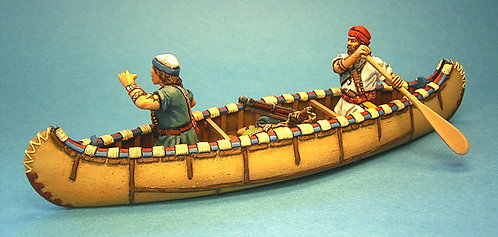CAN-02 - French Militia in Canoe