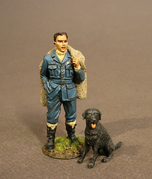 RAF-01A - Spitfire Pilot with Labrador, The Royal Air Force