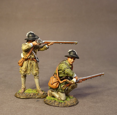 SMG-03C - 2 Riflemen Skirmishing, Morgan's Rifles, the Battle of Saratog