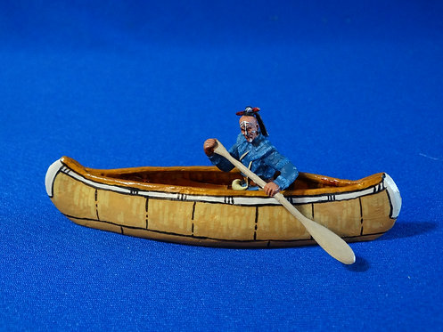 LM-300H - Huron Indian Paddling Canoe with Separate Musket - FIW - LeMans