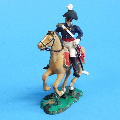 CORD-B0003 - US Officer - Mounted - War of 1812  - ATKM - 54mm Metal and Plastic