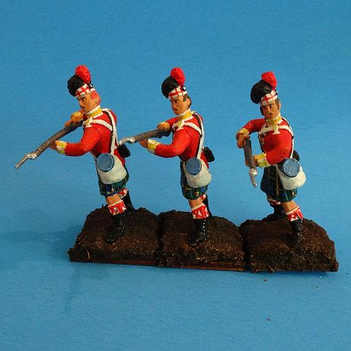 MI-536 - British Gordon Highlanders Standing to Repel - Napoleonics (3 figs)