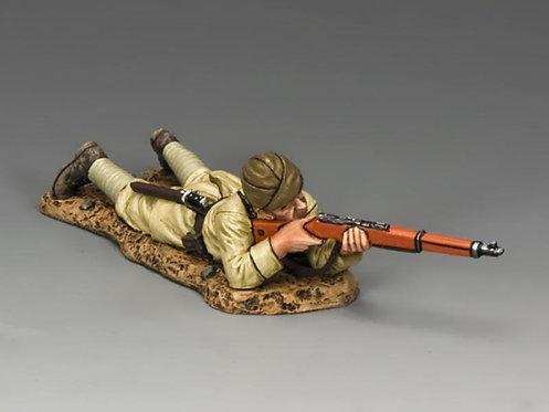 AL070 - Lying Prone Turkish Rifleman
