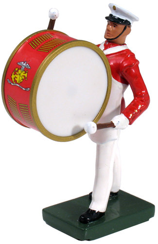 48509 - USMC Bass Drummer, Commandant's Own, Red Tunic
