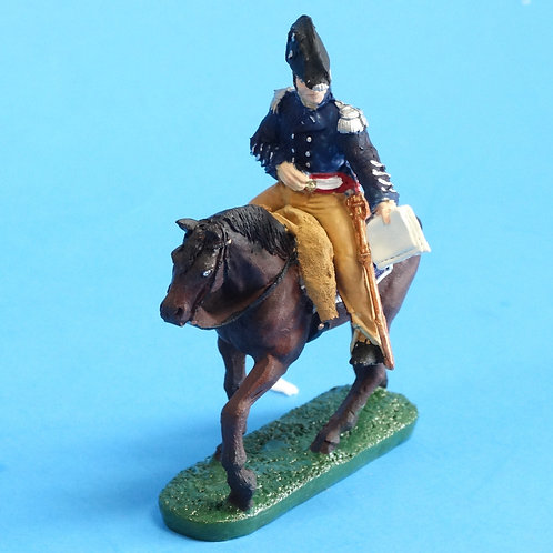 CORD-B0007 - US Officer - Mounted - War of 1812  - Unknown Manufacturer - 54mm