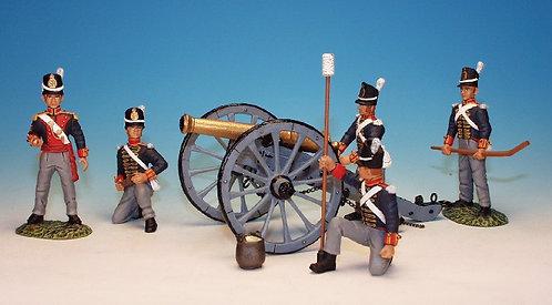 RFA.1 - Cannon, with 5 Man Crew Firing, Royal Foot Artillery