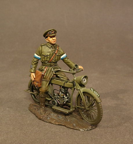 GWB-19B- Royal Engineers Signal Service (RESS), Despatch Rider on Motorbike