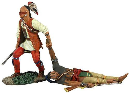 """16013 - """"No One Left Behind"""" - Eastern Woodland Indian Dragging Wounded Comrade"""