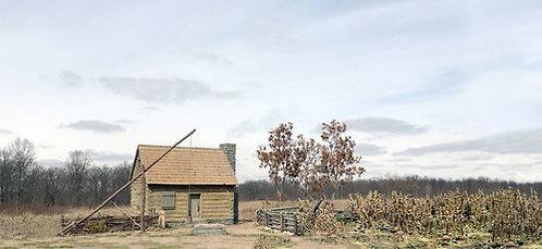 HA51046 - American Frontier Settlement Scenic Backdrop