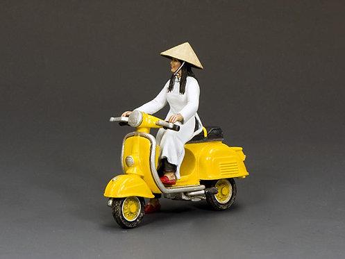 VN106 - The Golden Yellow Vespa Girl