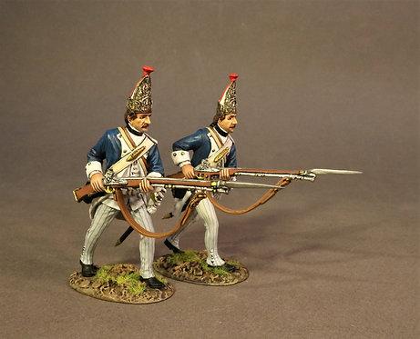 SVRH-08 - 2 Grenadiers Advancing,  Von Rhetz Regiment, the Battle of Saratoga
