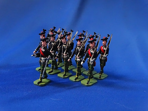 COMS-69 -Royal Scots 1937, 1 Officer and 11 Other Ranks Marching - 12 Figures