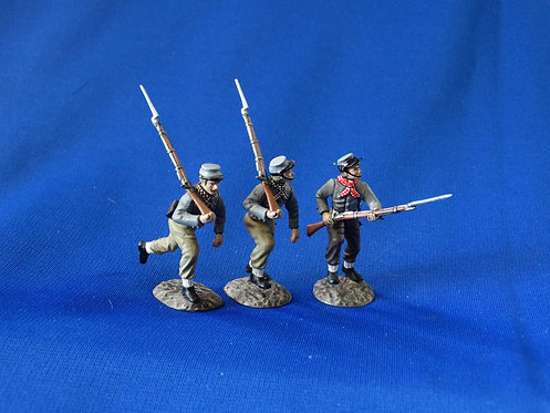 CORD-0936 - Confederate VMI Cadets Advancing (3 Figures) - ACW - Frontline