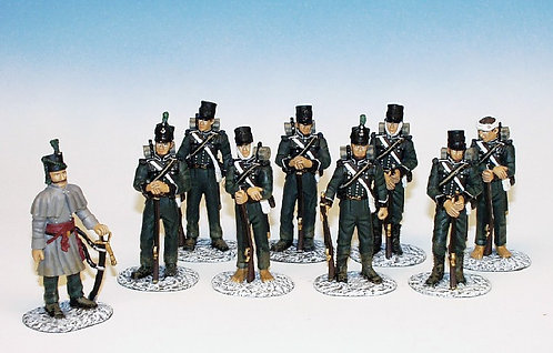 95RB.6. - Retreat from Corunna, Set 1 - 9 Figures,95th Rifle Brigade