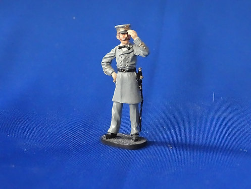 CORD-0928 - Confederate Navy Officer - ACW - Franklin Mint - 54mm Metal - No Box