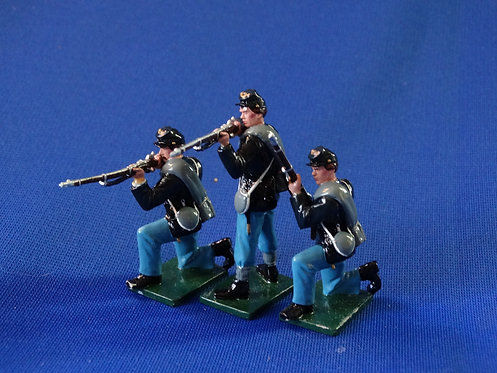 CORD-0431 - Union Infantry 3 Figures - Shenandoah - ACW - 54mm Metal No Box