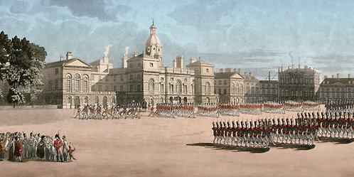 HA51055  - Regency Review at Horse Guards Backdrop