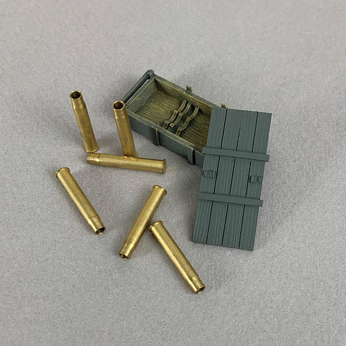 25085 - German 88mm Empty Crate and Empty Shell Casings