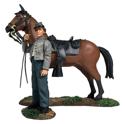 31270 - Confederate Orderly Holding Horse