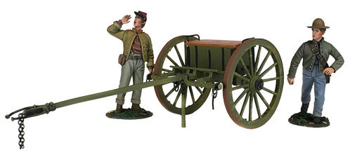 31293 - Confederate Light Artillery Limber With Two Man Crew