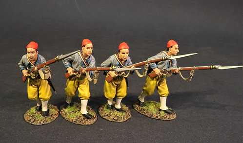 CSHZ-08N - 4 Infantry Advancing, The South Carolina Zouave Volunteers