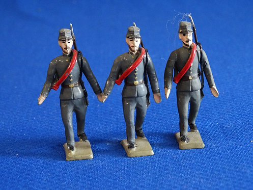 MN046 - Confederate Infantry 3 Walking - Minot - 54mm Metal - No Box