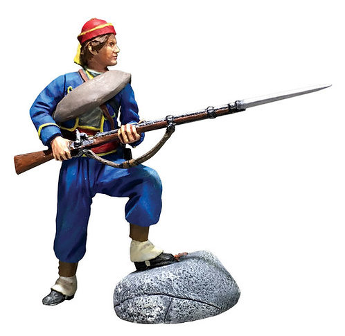 31296 - Union Infantry 146th NY Zouave Standing Defending No.1