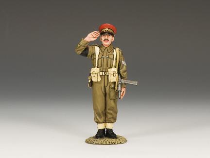 """DD155 - Saluting British """"Redcap"""" M.P."""