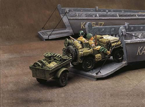 DD013 - US Jeep & Trailer with Two 82nd Airborne Soldiers