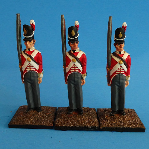 MI-492 - British Infantry at Attention - Napoleonics (3 figs)