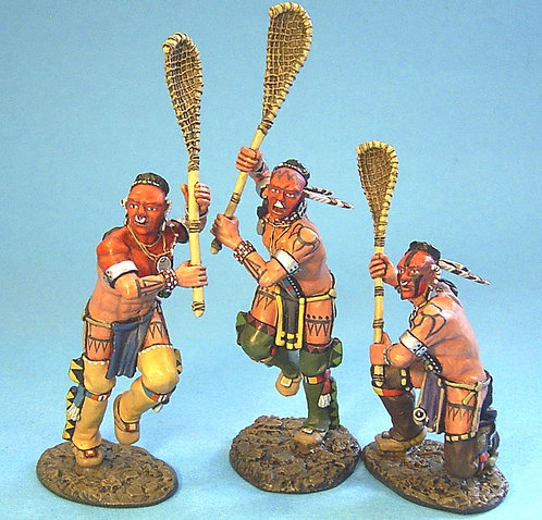 WIM-08 - Woodland Indians Playing Lacrosse