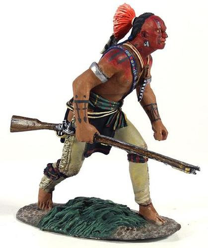 16012 - Eastern Woodland Indian Crouching Advancing