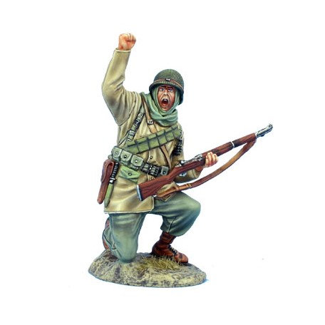 BB040  - US Winter Infantry Kneeling with M1 Garand
