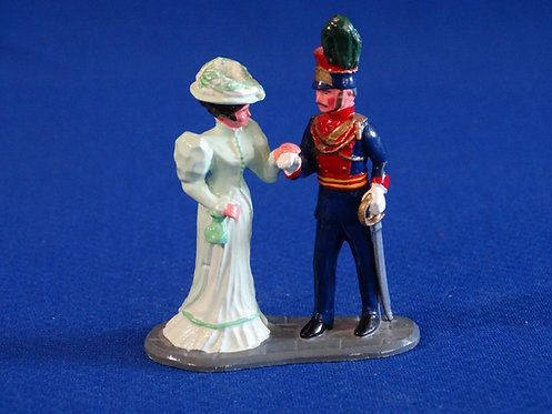 NR-109 - Officer and Lady - Trophy Set C34A - 54mm Metal - No Box