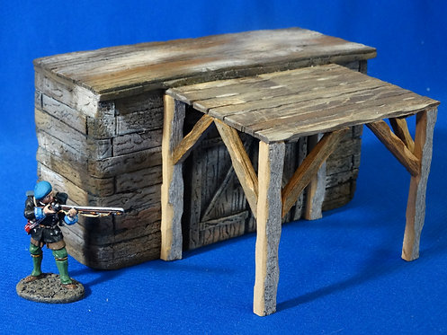 VD-030 - Cabin with Porch - 60mm Scale - Foam Construction - Volk Designs