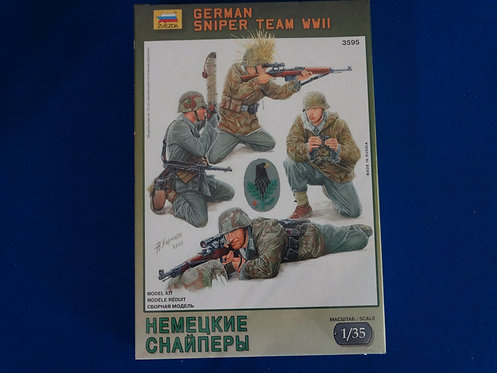 COJG-232 - German Sniper Team - WWII - Zveda 1/35 - Plastic Kit - 4 Figures