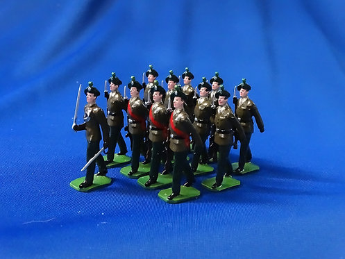 COMS-84 - The Royal Irish Rangers Marching - 12 Figures