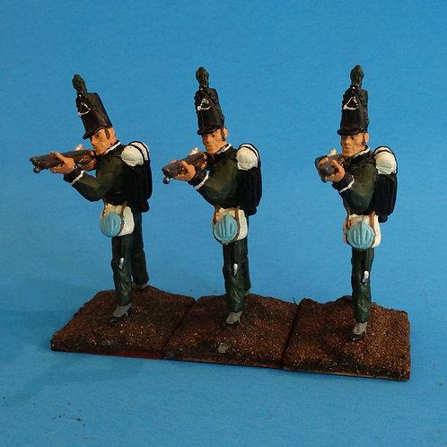 MI-512 - British 95th Rifles - Napoleonics (3 figs) - Li'l Army - 60mm