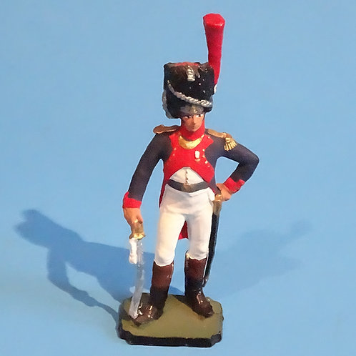 MI-468 - French Imperial Guard Officer - Napoleonic - 54mm Metal - No Box