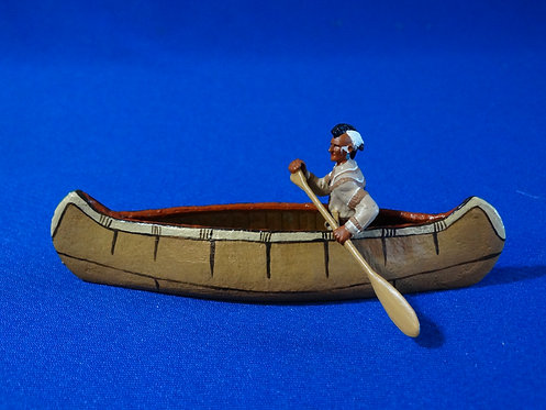 LM-300M - Mohawk Indian Paddling Canoe with Separate Musket - FIW - LeMans