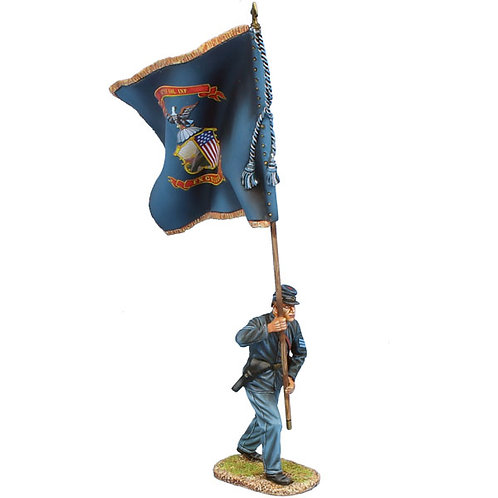 ACW116 - Union Sergeant Standard Bearer - 147th NY Vols Regt Colors