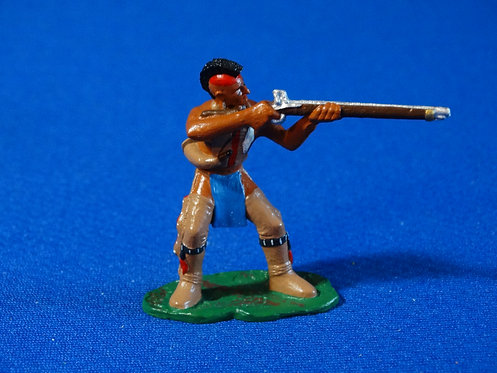 LM-303M - Mohawk Indian Leaning Back Shooting Musket - FIW - LeMans