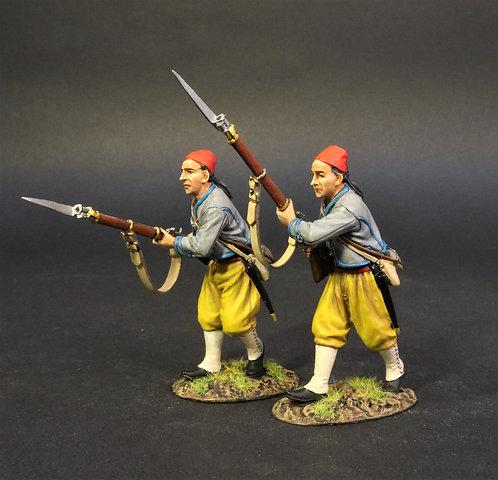CSHZ-07 - 2 Infantry Advancing, The South Carolina Zouave Volunteers, Ha